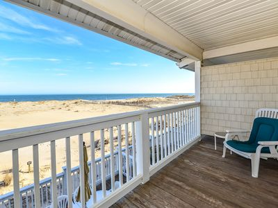 Photo for Spacious, traditional 3 bedroom oceanfront townhouse with WiFi, a large covered deck, balcony access from multiple rooms, and amazing view of ocean located uptown in family-friendly neighborhood and mere steps to beach!