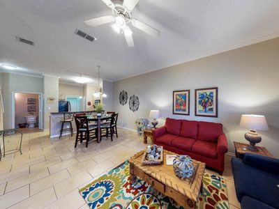 Photo for Townhome by water features w/access to heated pool, & grill! Family Friendly!