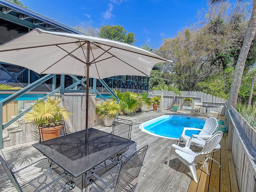 Welcome To Happy Landing Classic Folly Beach Cabin 2 Bedroom Private Pool Folly Beach