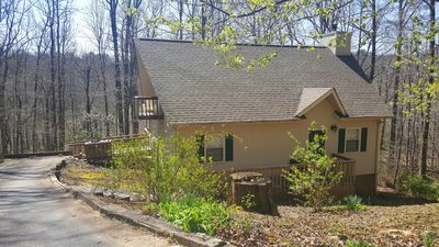 Photo for Beautiful Cottage with loft, creek, hot tub, fire pit, and free wifi!!!