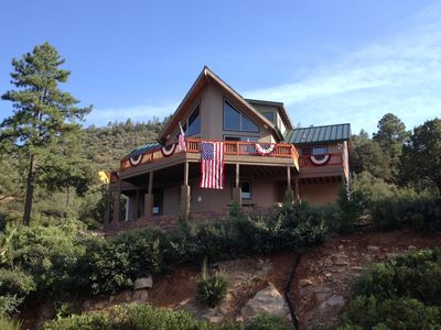 Photo for Relax and Enjoy the Views of Strawberry AZ  in this Spacious Cabin