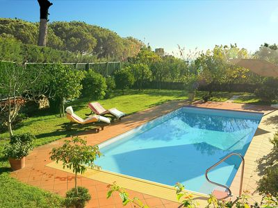 Photo for VILLA in SANREMO with private POOL and GARDEN, Wi-Fi