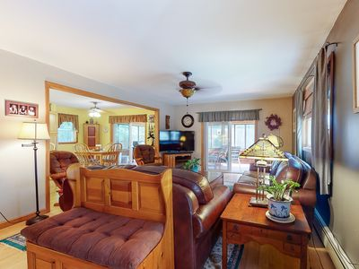 Photo for New listing! Dog-friendly lakefront gem w/ private dock, kayaks, & horseshoe pit