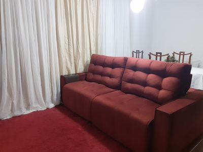 Photo for Apartment 3 minutes from Pitangueiras Beach w / Garage, 2 Bedrooms (Guaruja-SP)