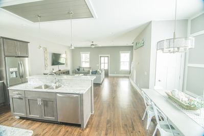 First floor Living room and open kitchen