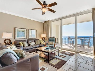 Photo for Beautiful Unit Sleeping 10! Gulf Front, Great Amenities, Private WiFi, Nearby Shops and Restaurants!
