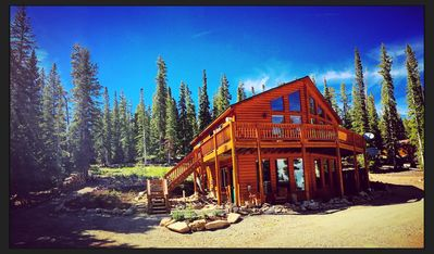 Photo for Beautiful, Cozy, Mountain Chalet on 5 acres near Breckenridge with Hot Tub!