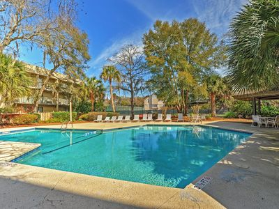 Walk to Beach from Remodeled Resort Condo w/ Pool!
