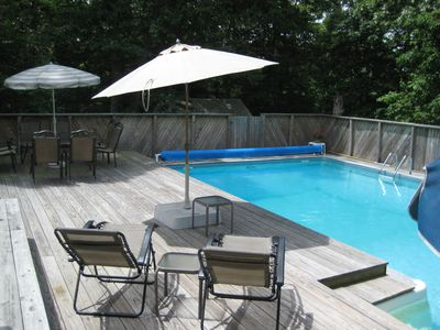 Photo for Family-Friendly Hamptons Vacation Home with Private Heated Pool