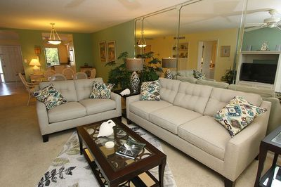 Living Room is open to Kitchen and Dining. Great for Family Time!