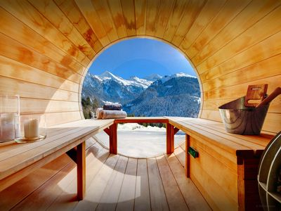 Photo for 4*  Stunning views from sauna at this splendid Alpine chalet - OVO Network