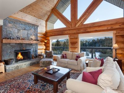 Photo for Beautiful 5 Bedroom Log Home with Spectacular Views