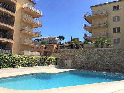 Photo for Sainte-Maxime Apartment, Sleeps 2 with Pool and WiFi
