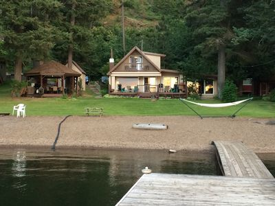 Photo for Amazing Lake Front - Just steps to a soft, pebble beach!