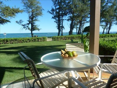 There's nothing like the sound of the surf as you eat lunch on your lanai.