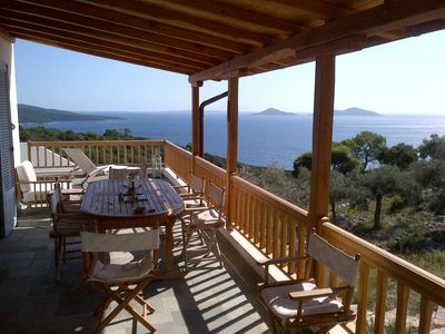 Photo for Villa Fondana: no neighbours; private access to sea;  180 degree views