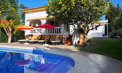 Photo for 3 bedroom Villa, sleeps 7 with Pool, Air Con and Walk to Shops