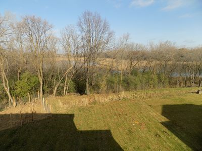 View from upstairs bedroom; house backs onto wetland