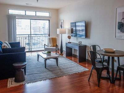 Photo for IUPUI 2-bedroom Waterfront Apt w/ Private Balcony