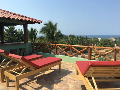 Photo for Luxury Ocean View Apartment with 900 sq. ft Terrace in Zicatela!