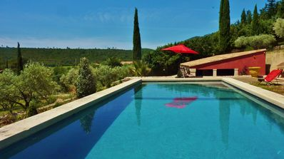 Photo for BASTIDE Mediterranean in its natural setting.  Lake Salagou 10 minutes.