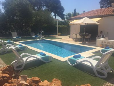 Photo for 100% DISINFECTED Villa. ACCESSIBLE Besides SEA.PRIVATE swimming pool. AIRCON.BBQ