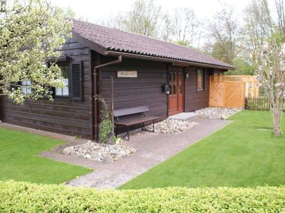 Photo for Log cabin with conservatory and large plot - log cabin with conservatory - very near the beach