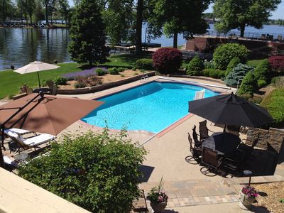 Fabulous lakefront home with pool