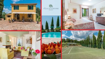 Photo for Villa private pool, tennis, relaxing, luxury rural, in Italy, Tuscany, Siena