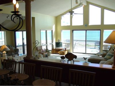 Spacious Oceanfront Living Room (as viewed from the dining room)