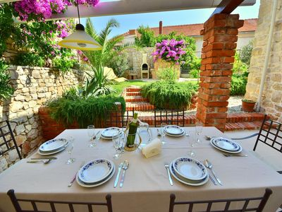 Photo for Stunning private villa with WIFI, A/C, TV, washing machine and parking