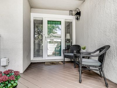 Photo for Spacious 2 story end unit w/ access to a shared pool. Golf nearby!