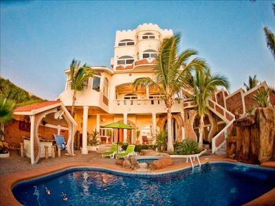 Photo for Mazatlan Sandcastle Oceanfront Villa