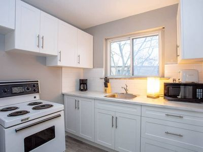 Photo for Comfy one bedroom Apartment- Minutes to Downtown