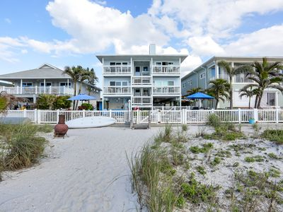 Photo for Completely Remodeled, Three Bedroom Beachfront Condo, Heated Pool, Wifi, Cable.