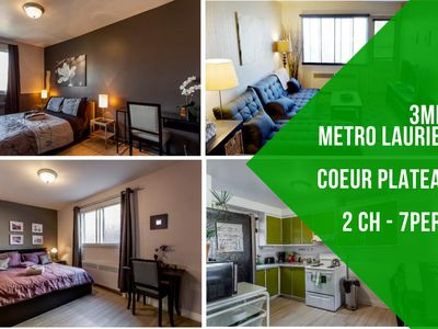 Photo for Cozy 2 br, 2 min metro Laurier
