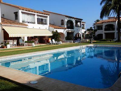 Photo for Apartment At Retio Sol With Salt Water Pool, 2 Mins Walk To Sandy Beaches