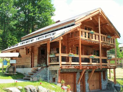 Photo for 4 * Chalet solid wood for rent