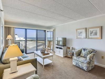 Photo for Well-Kept & Updated - Oceanfront Condo w/ Pool (Side) - 8 Blocks to Boardwalk