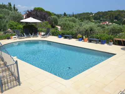 Photo for Spacious and Relaxing - Wonderful views to the Mediterranean - near to Valbonne