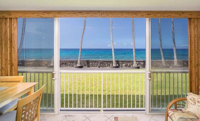 Photo for Tropical Oceanfront Studio w/ Full Kitchen, Lanai, WiFi, Pool Area