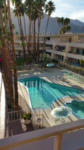 Photo for Roomy 2 bed 2 bath Penthouse in Downtown Palm Springs - Near Casino