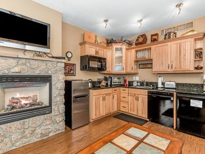Photo for Deer Mountain 28B - 1 Br/2 bath condo with 2 fireplaces, Marys Lake and mountain views!