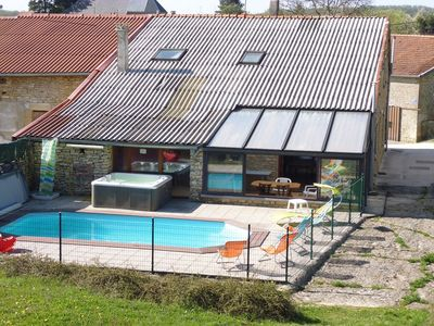 Photo for 200m2 villa in the countryside on 2200m2 heated pool and SPA