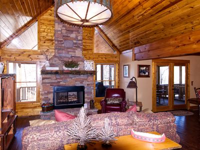 Photo for Beautiful Upscale Creekfront cabin with Hot Tub and Game Room with Pool Table