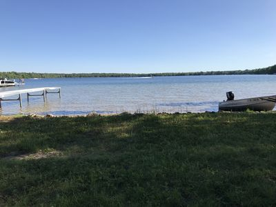 Lake view from back yard