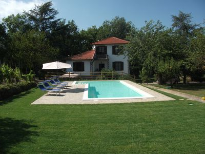 Front of Villa with pool