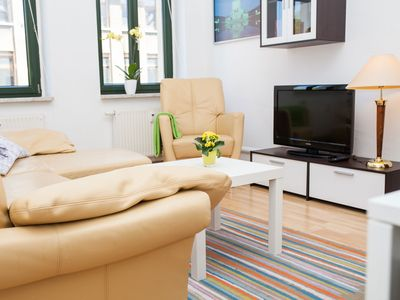 Photo for 2 rooms apartment, kitchen, bathroom, balcony, cable TV, wireless internet, quiet - even without a credit card