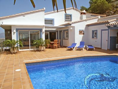 Photo for Beautiful private villa with hot tub, private pool, A/C, TV, balcony, washing machine and parking