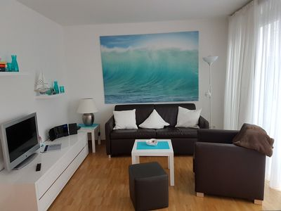Photo for Modern, bright 2-room Apartment with WiFi at the port